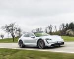 2022 Porsche Taycan 4S Cross Turismo (Color: Ice Grey Metallic) Front Three-Quarter Wallpapers 150x120 (8)