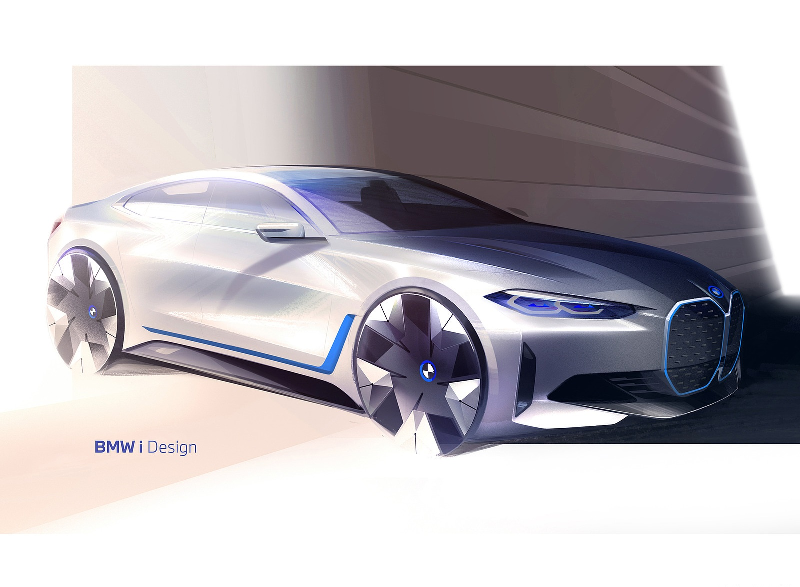2022 BMW i4 Design Sketch Wallpapers  (7)
