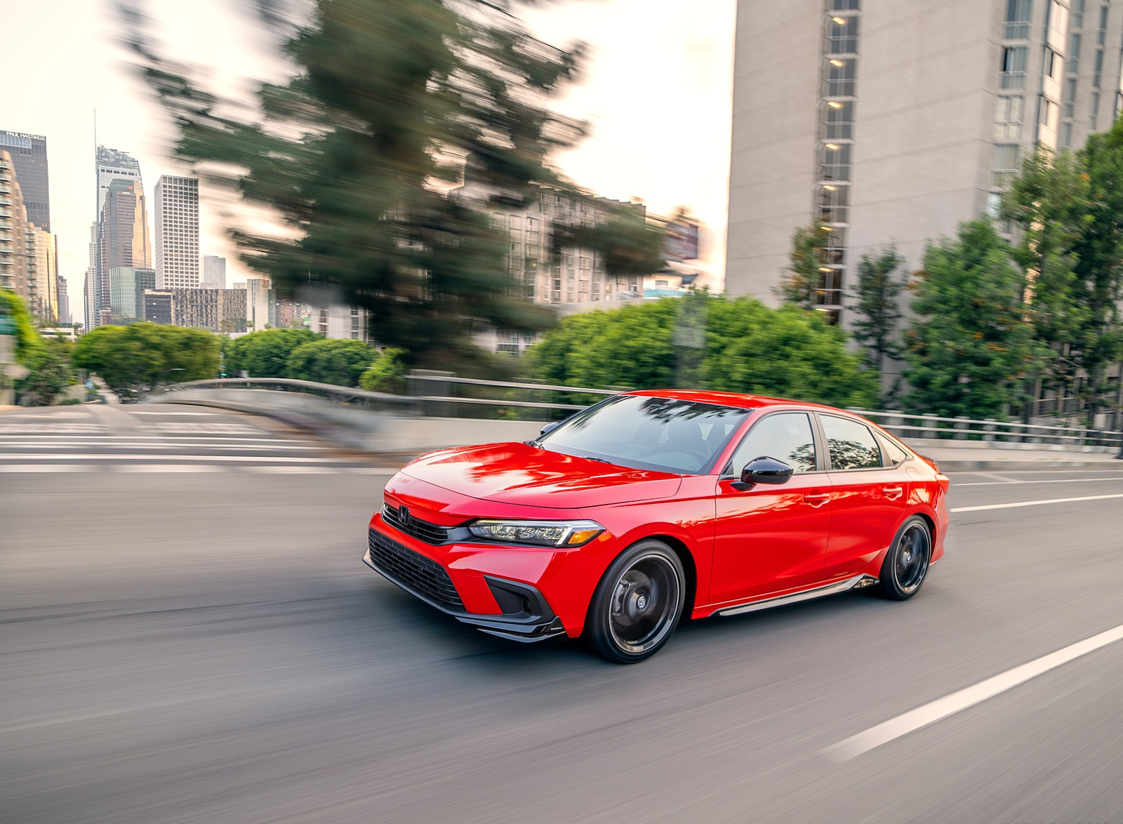 2022 Honda Civic Sedan Sport with HPD Package Front Three-Quarter Wallpapers (4)