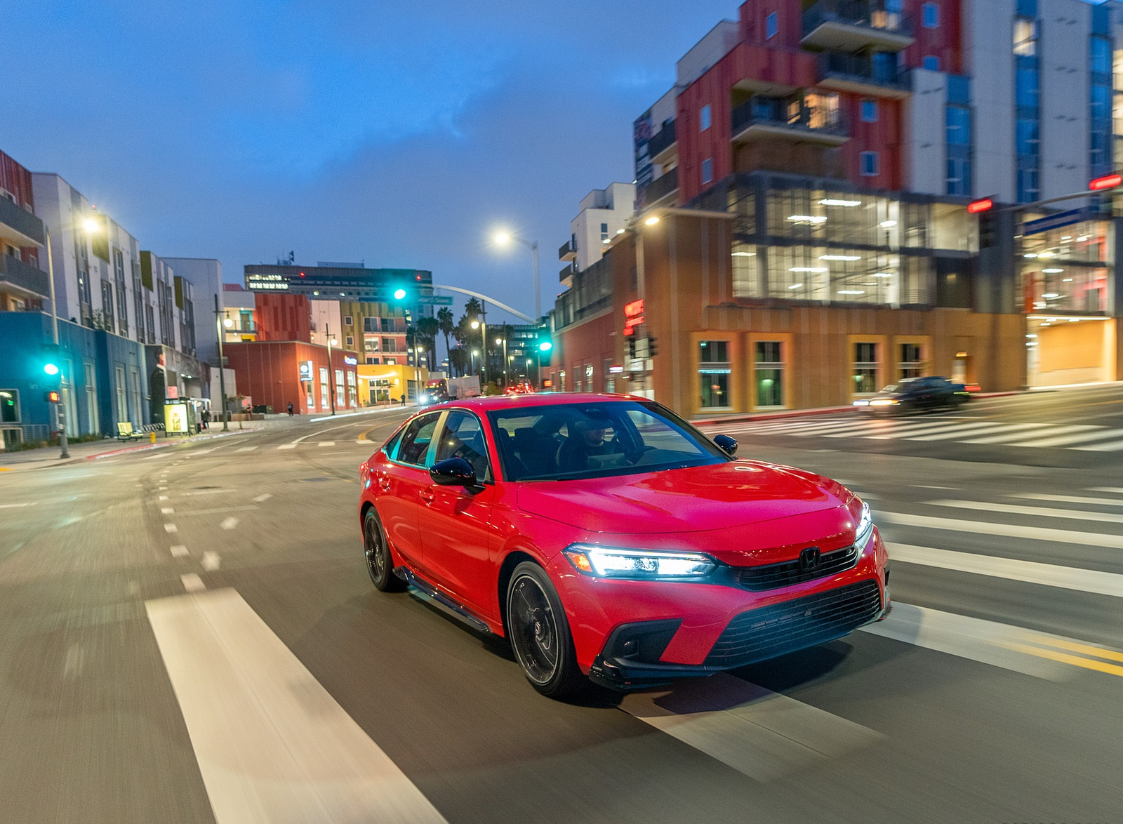 2022 Honda Civic Sedan Sport with HPD Package Front Three-Quarter Wallpapers (7)