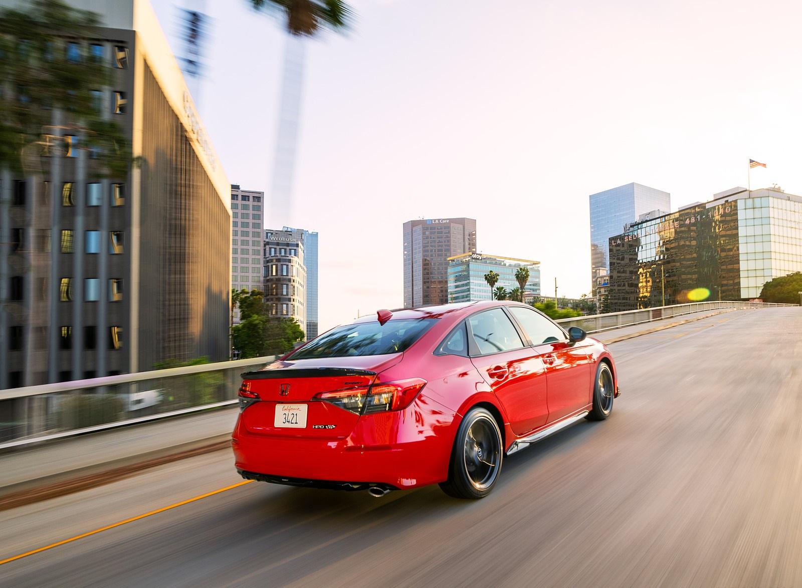 2022 Honda Civic Sedan Sport with HPD Package Rear Three-Quarter Wallpapers (5)