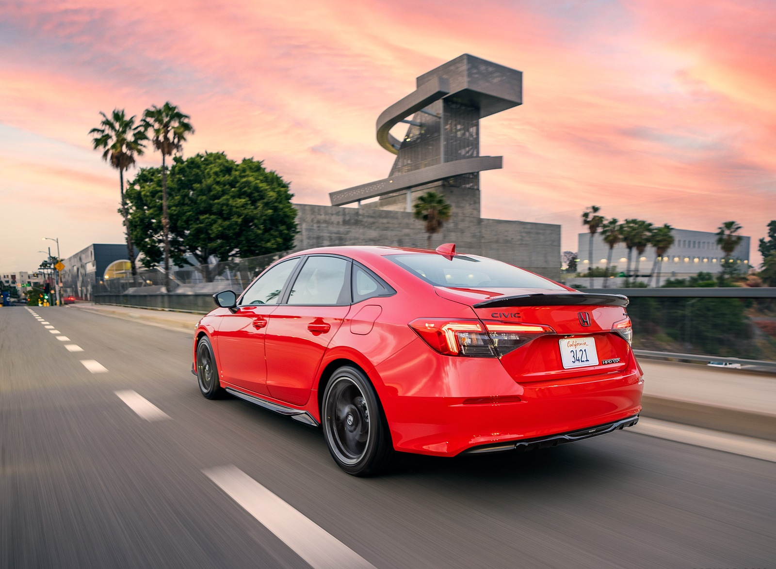 2022 Honda Civic Sedan Sport with HPD Package Rear Three-Quarter Wallpapers (6)