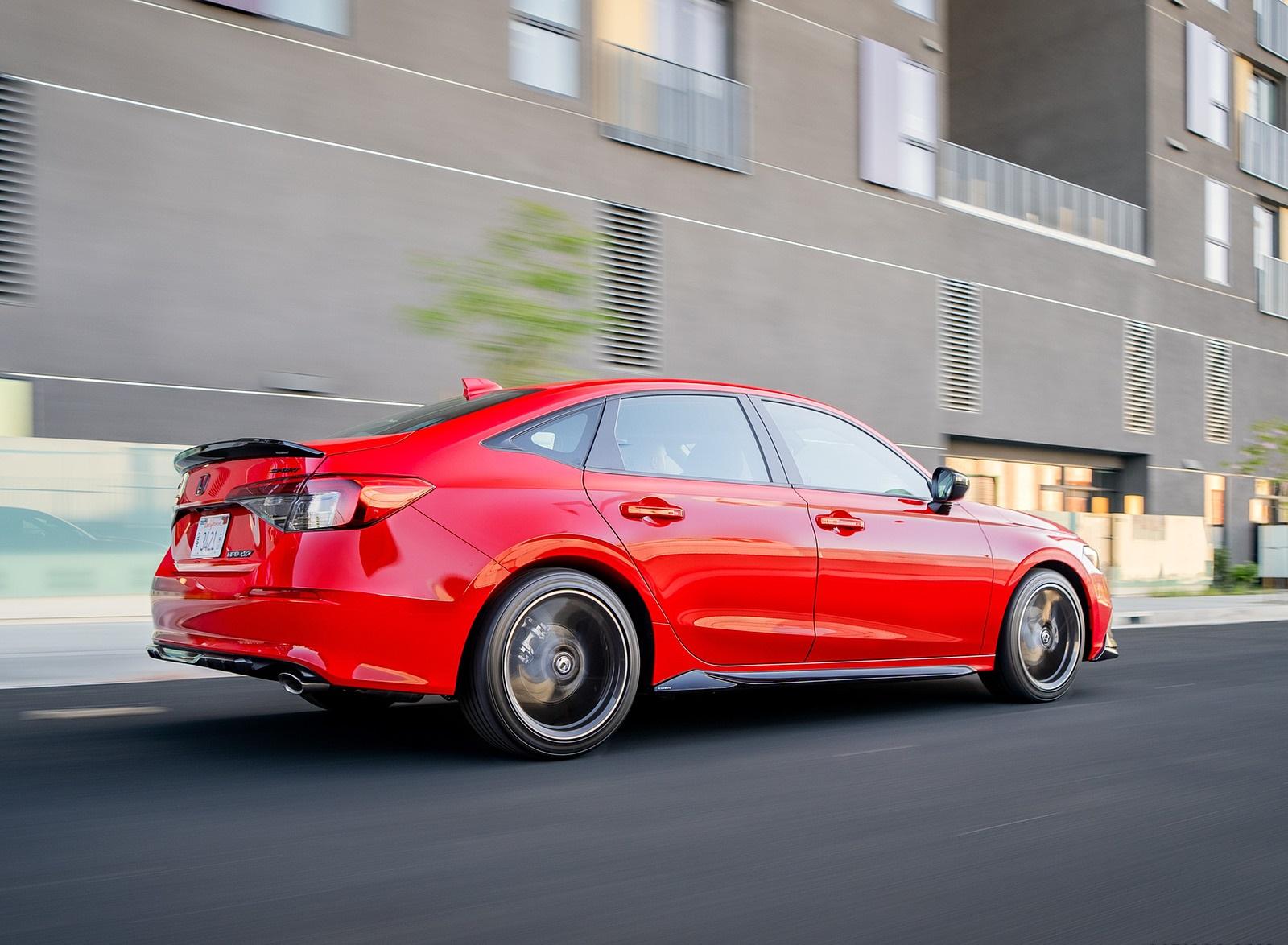2022 Honda Civic Sedan Sport with HPD Package Rear Three-Quarter Wallpapers (3)