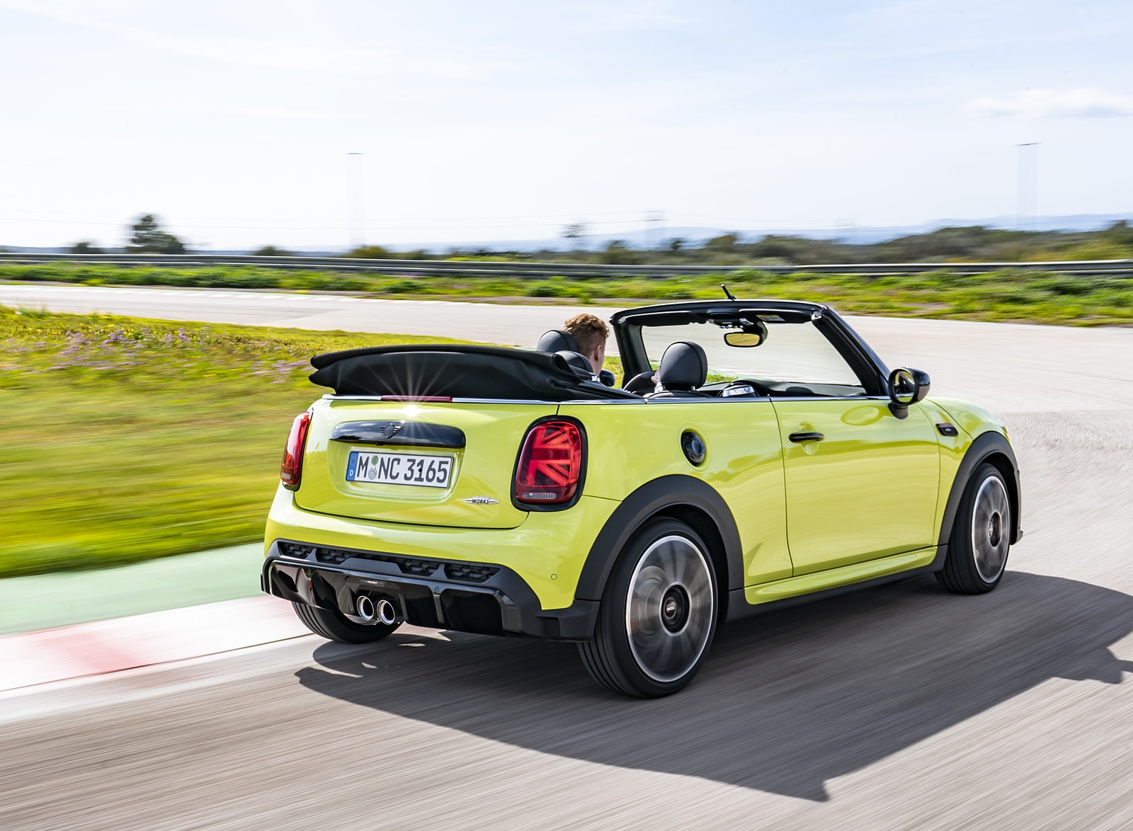 2022 MINI John Cooper Works Cabrio Rear Three-Quarter Wallpapers (7)
