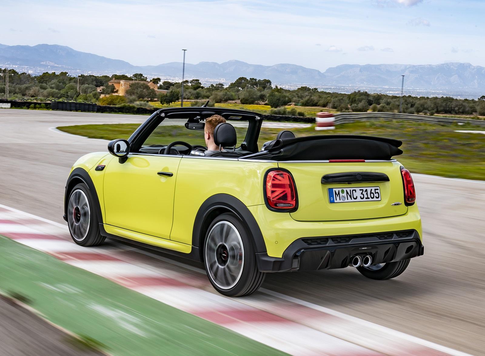 2022 MINI John Cooper Works Cabrio Rear Three-Quarter Wallpapers (4)