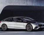 2022 Mercedes-Benz EQS 580 4MATIC AMG-Line Edition 1 (Color: High-Tech Silver Obsidian Black) Front Three-Quarter Wallpapers 150x120 (18)