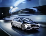 2022 Mercedes-Benz EQS 580 4MATIC AMG-Line Edition 1 (Color: High-Tech Silver Obsidian Black) Front Three-Quarter Wallpapers 150x120 (13)
