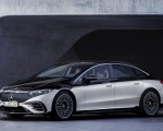 2022 Mercedes-Benz EQS 580 4MATIC AMG-Line Edition 1 (Color: High-Tech Silver Obsidian Black) Front Three-Quarter Wallpapers 150x120 (19)