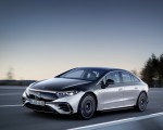 2022 Mercedes-Benz EQS 580 4MATIC AMG-Line Edition 1 (Color: High-Tech Silver Obsidian Black) Front Three-Quarter Wallpapers 150x120 (4)