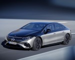 2022 Mercedes-Benz EQS 580 4MATIC AMG-Line Edition 1 (Color: High-Tech Silver Obsidian Black) Front Three-Quarter Wallpapers 150x120 (8)