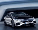 2022 Mercedes-Benz EQS 580 4MATIC AMG-Line Edition 1 (Color: High-Tech Silver Obsidian Black) Front Wallpapers 150x120 (9)