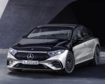 2022 Mercedes-Benz EQS 580 4MATIC AMG-Line Edition 1 (Color: High-Tech Silver Obsidian Black) Front Wallpapers 150x120 (21)