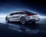 2022 Mercedes-Benz EQS 580 4MATIC AMG-Line Edition 1 (Color: High-Tech Silver Obsidian Black) Rear Three-Quarter Wallpapers 150x120 (34)