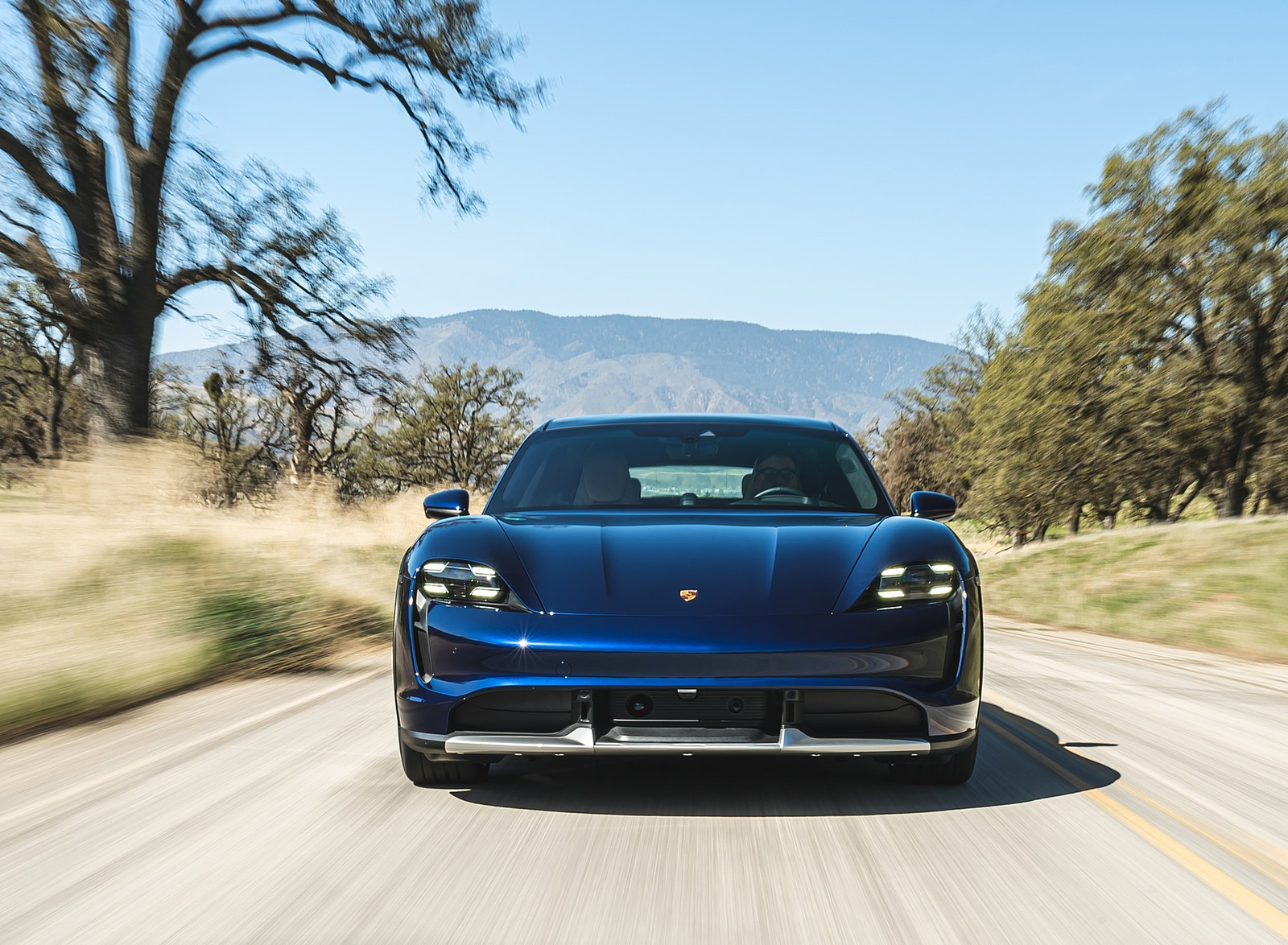 2022 Porsche Taycan Turbo Cross Turismo (Color: Gentian Blue) Front Wallpapers (6)