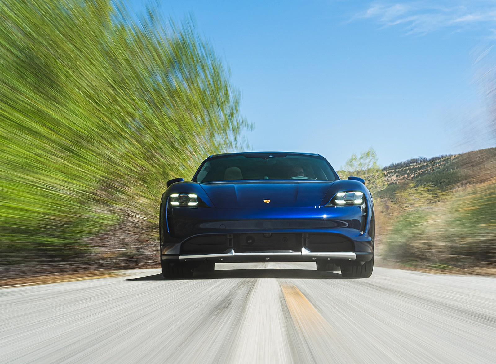 2022 Porsche Taycan Turbo Cross Turismo (Color: Gentian Blue) Front Wallpapers (7)