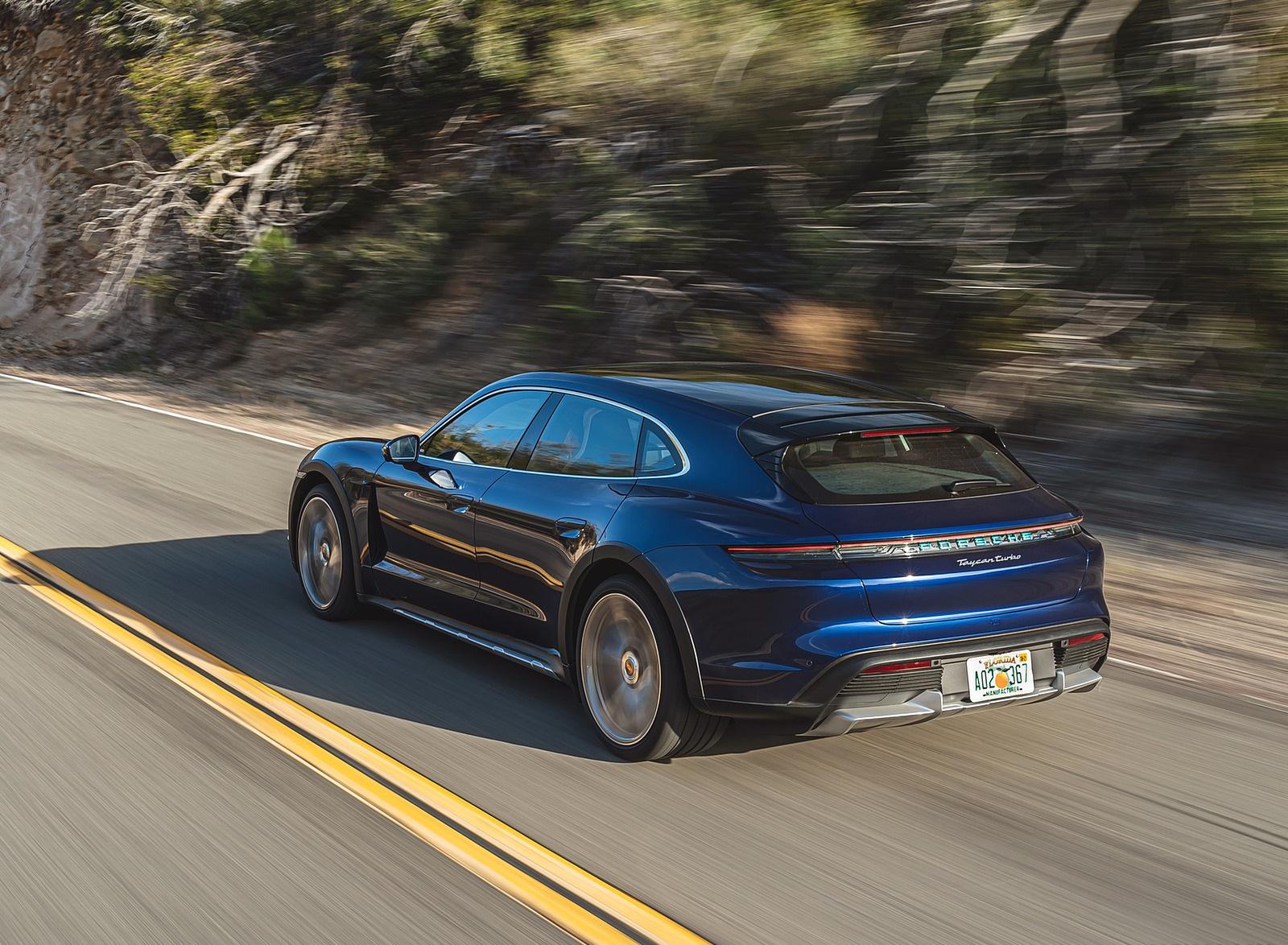 2022 Porsche Taycan Turbo Cross Turismo (Color: Gentian Blue) Rear Three-Quarter Wallpapers (9)