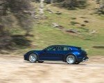 2022 Porsche Taycan Turbo Cross Turismo (Color: Gentian Blue) Side Wallpapers 150x120 (45)