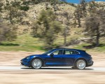 2022 Porsche Taycan Turbo Cross Turismo (Color: Gentian Blue) Side Wallpapers 150x120 (39)