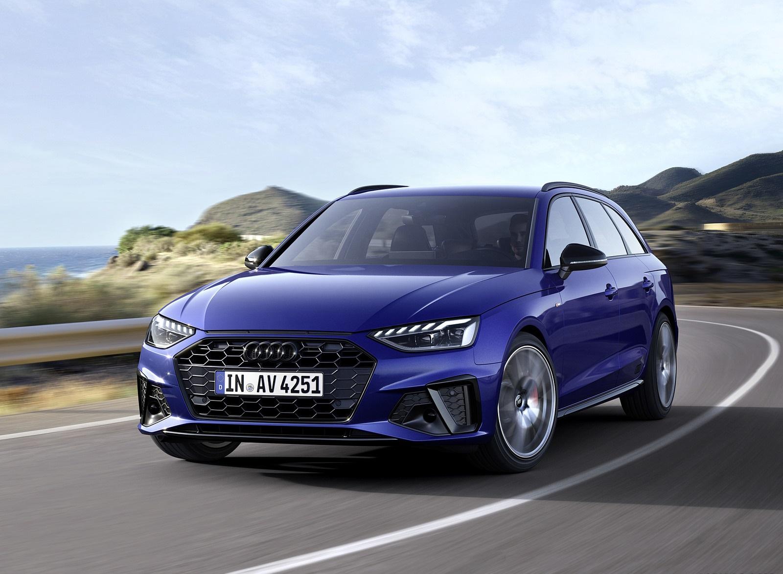 2022 Audi A4 Avant S Line Competition Plus (Color: Navarra Blue Metallic) Front Wallpapers (1)