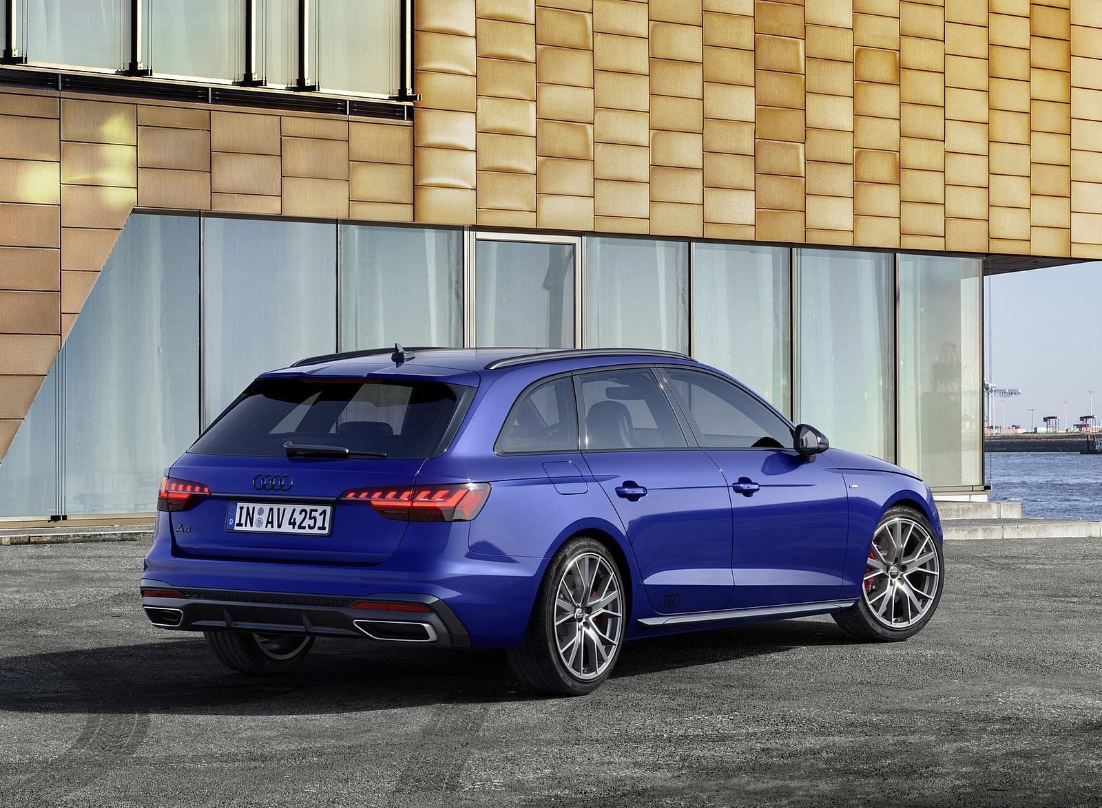 2022 Audi A4 Avant S Line Competition Plus (Color: Navarra Blue Metallic) Rear Three-Quarter Wallpapers (6)