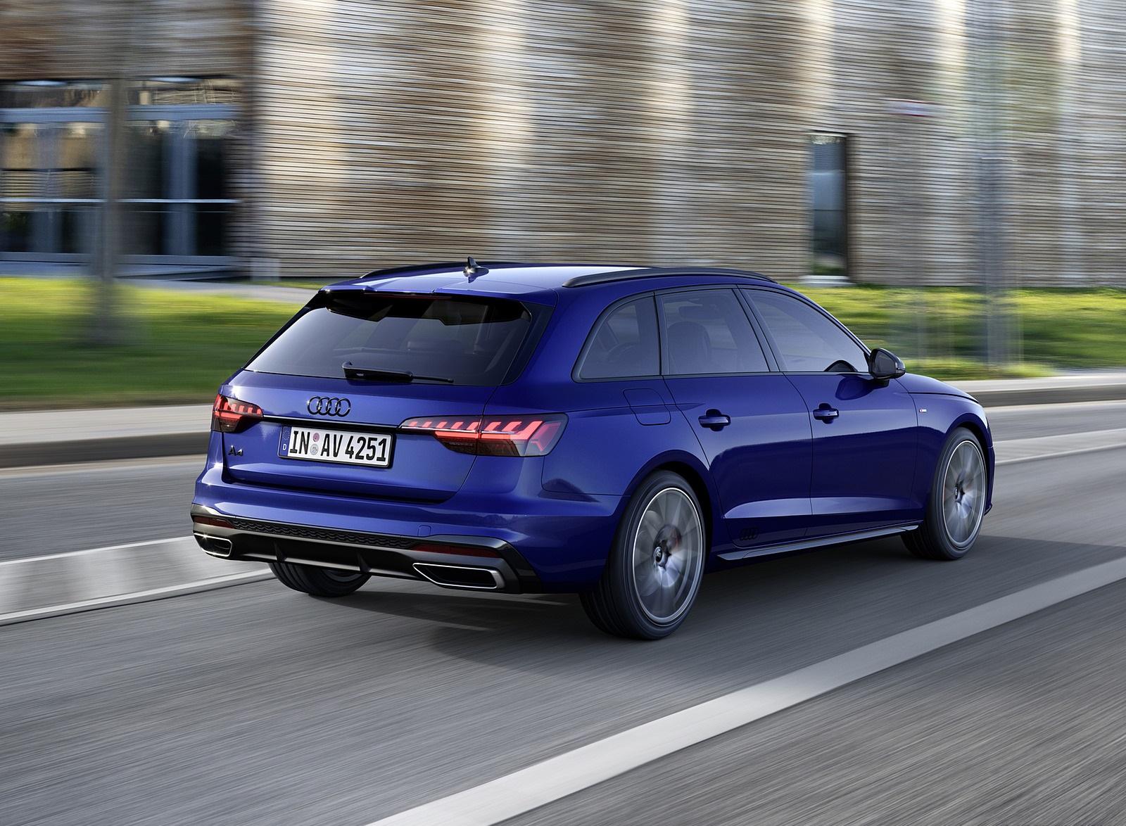 2022 Audi A4 Avant S Line Competition Plus (Color: Navarra Blue Metallic) Rear Three-Quarter Wallpapers (4)