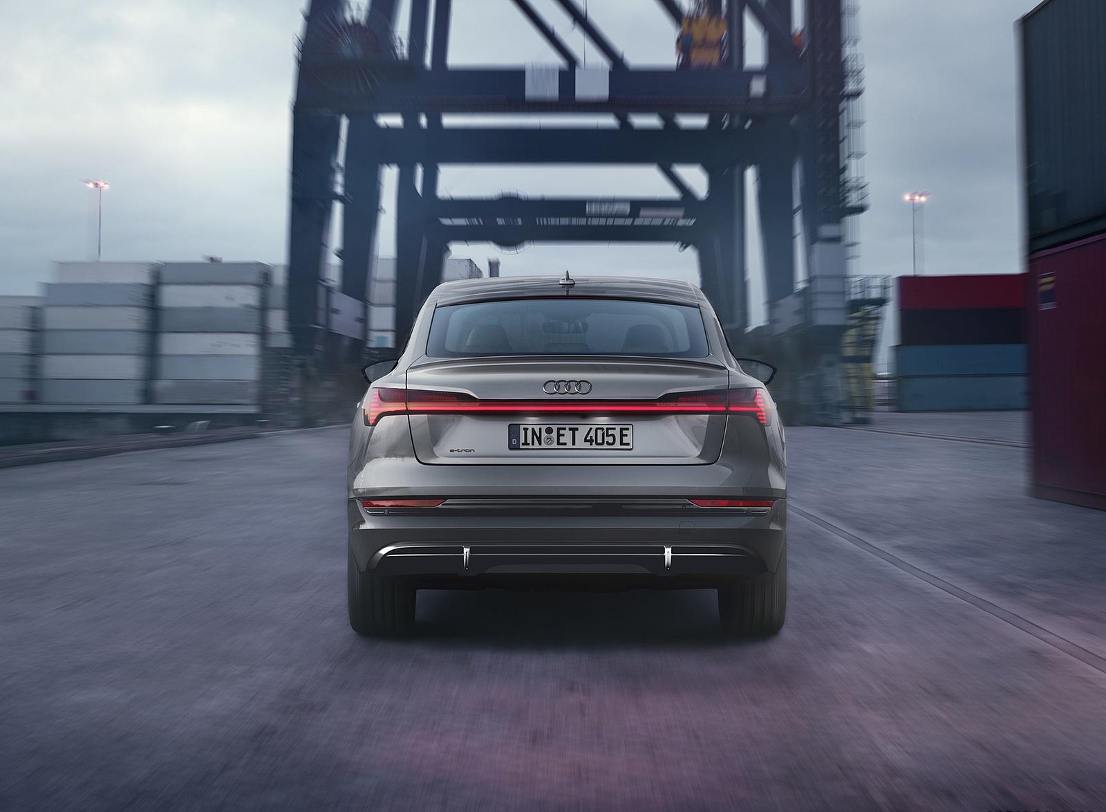 2022 Audi e-tron Sportback S Line Black Edition (Color: Chronos Grey Metallic) Rear Wallpapers (4)