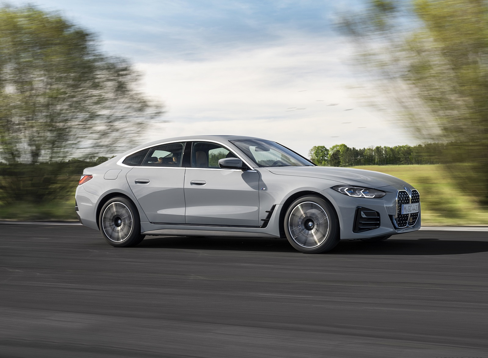 2022 BMW 4 Series 430i Gran Coupé Side Wallpapers  (4)