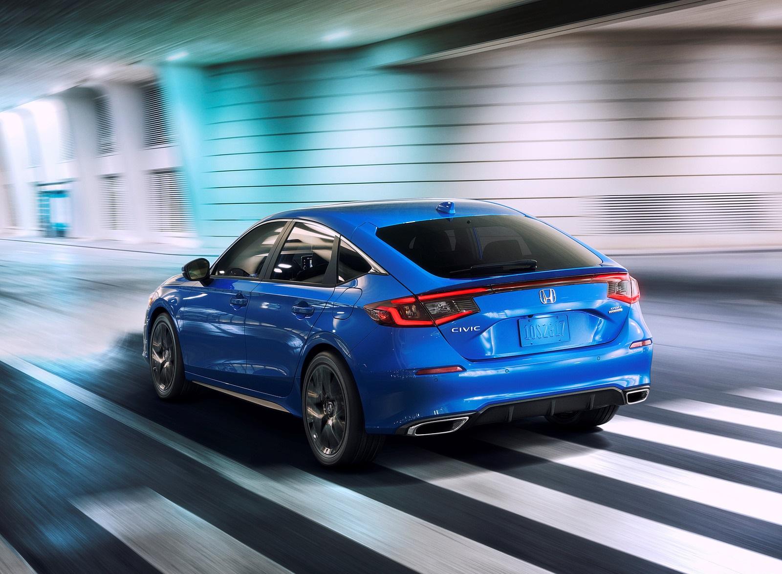 2022 Honda Civic Hatchback Rear Three-Quarter Wallpapers (3)