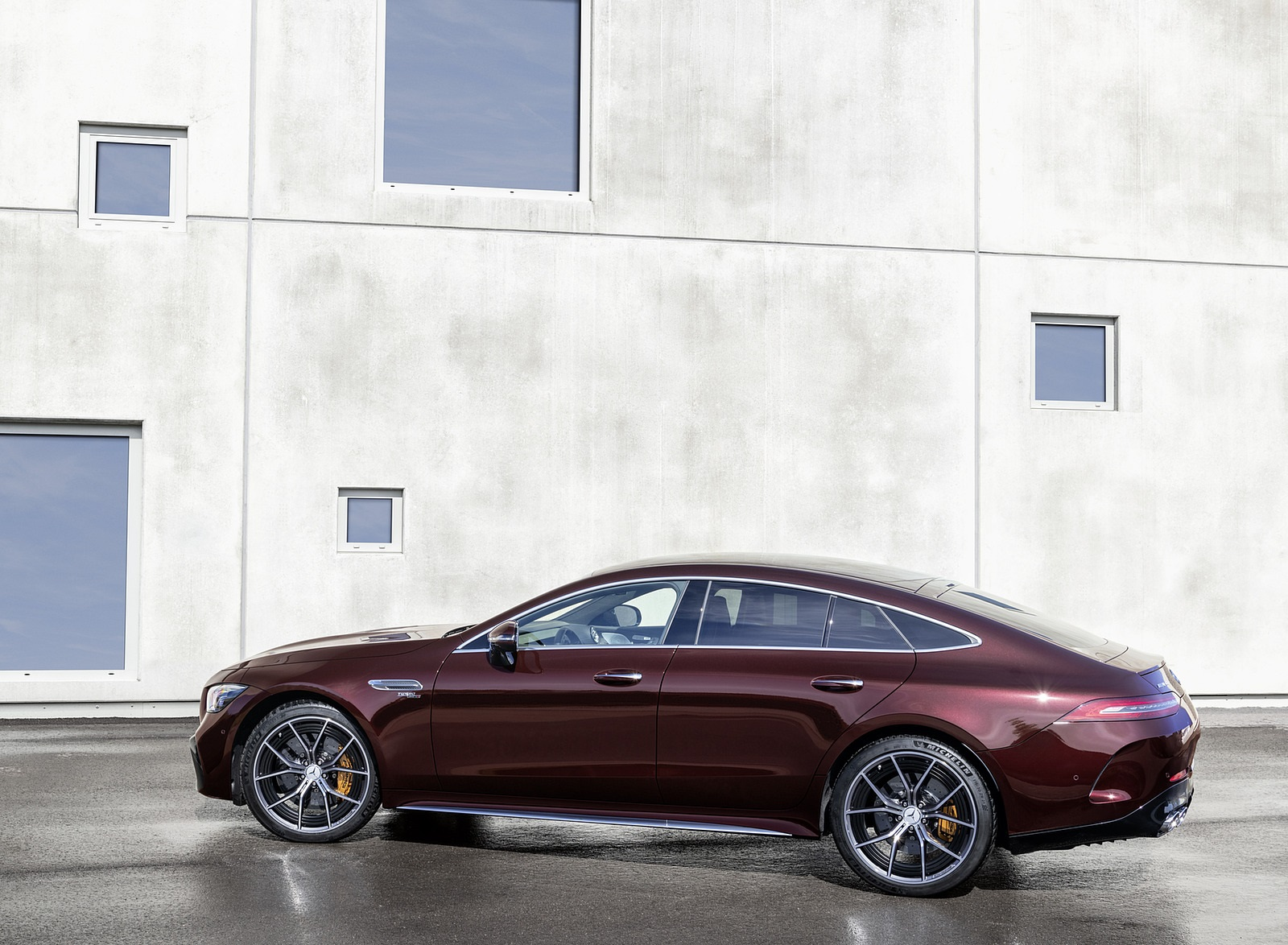2022 Mercedes-AMG GT 53 4MATIC+ 4-Door Coupe (Color: Rubellite Red) Side Wallpapers (7)