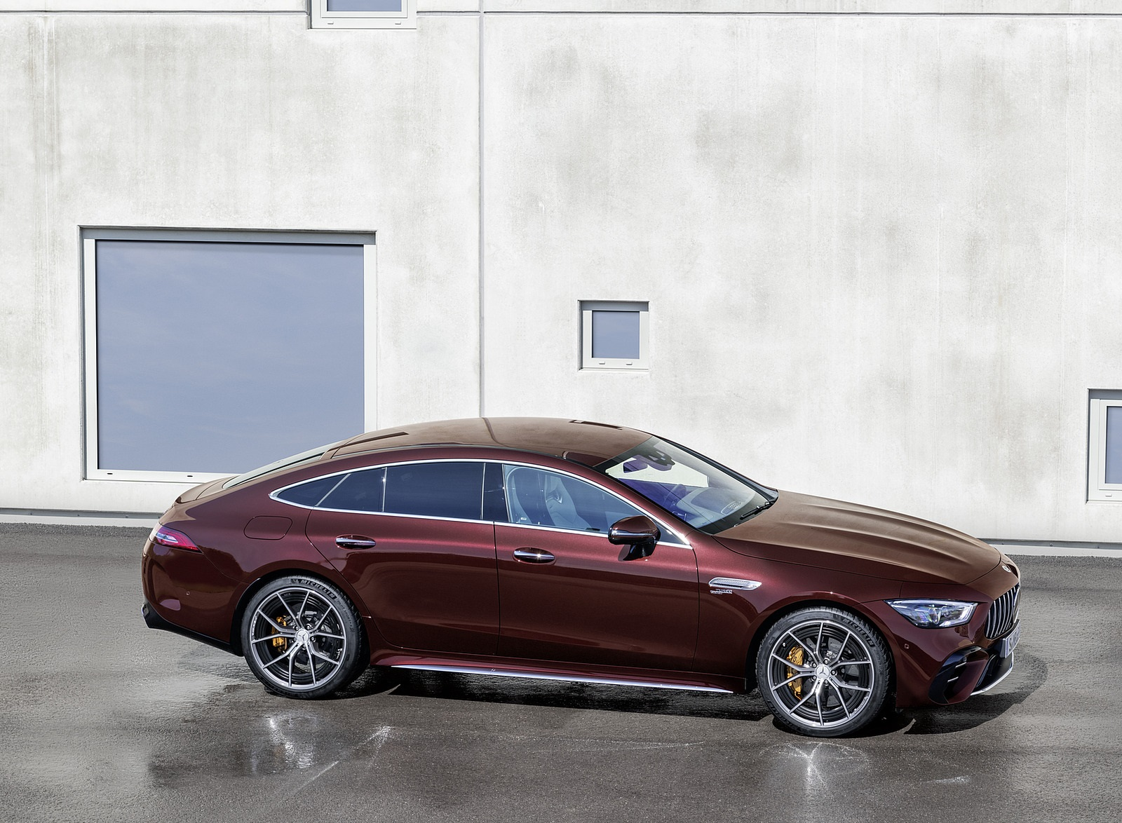 2022 Mercedes-AMG GT 53 4MATIC+ 4-Door Coupe (Color: Rubellite Red) Side Wallpapers (8)