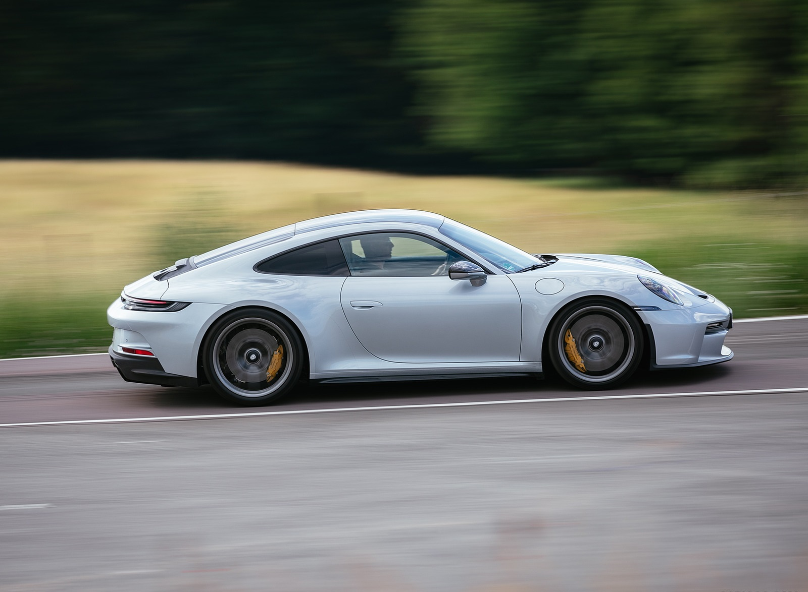 2022 Porsche 911 GT3 with Touring Package (PDK; Color: Dolomite Silver Metallic) Side Wallpapers (2)