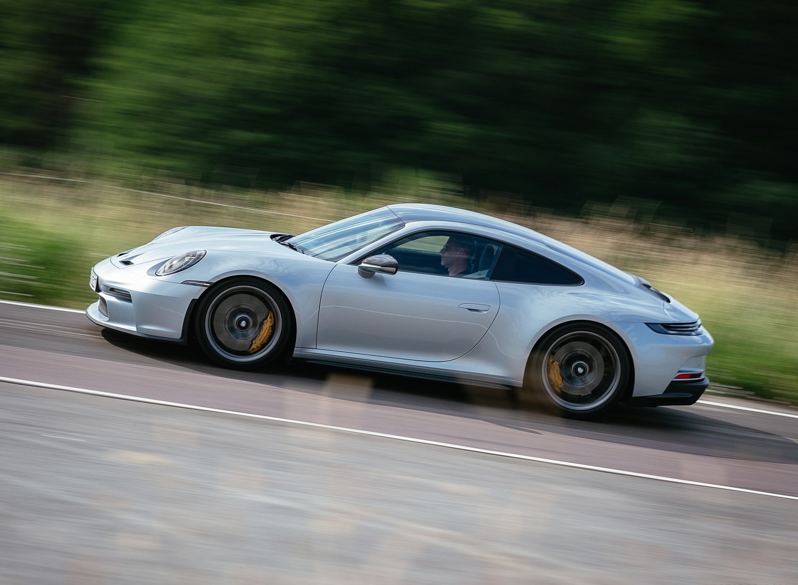 2022 Porsche 911 GT3 with Touring Package (PDK; Color: Dolomite Silver Metallic) Side Wallpapers (1)