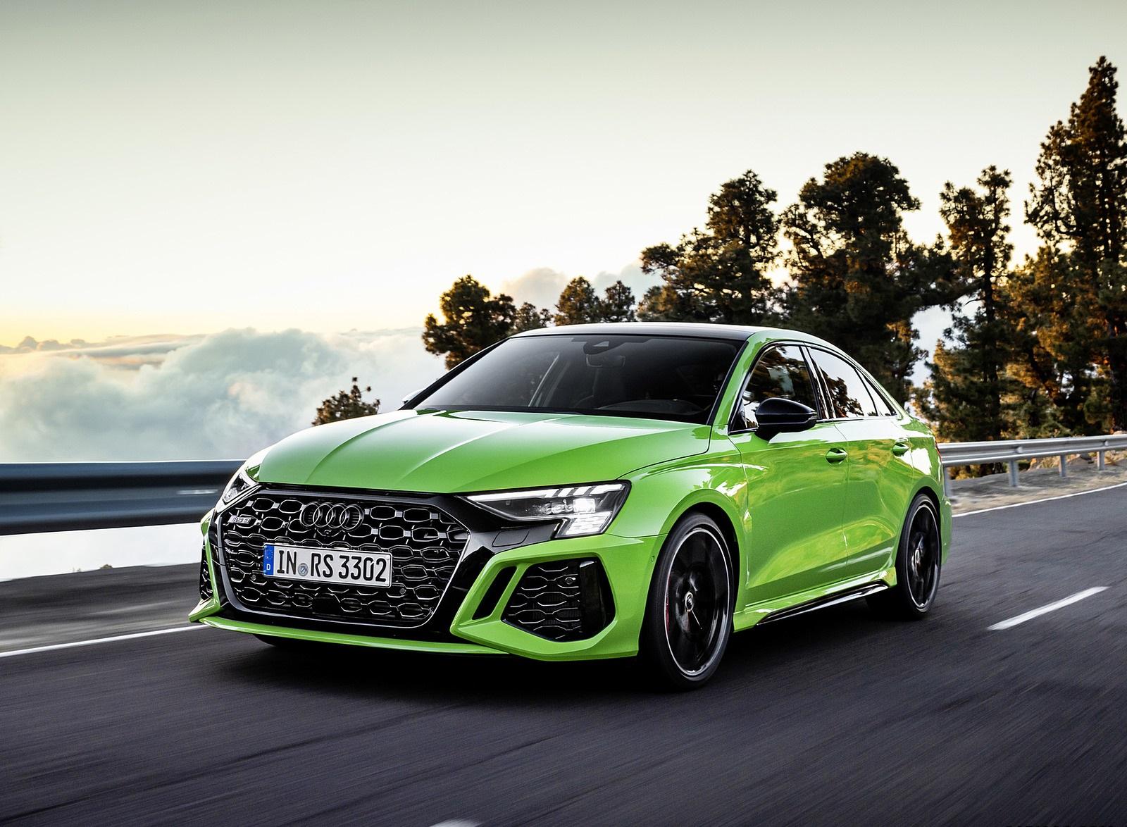 2022 Audi RS3 Sedan (Color: Kyalami Green) Front Three-Quarter Wallpapers (1)