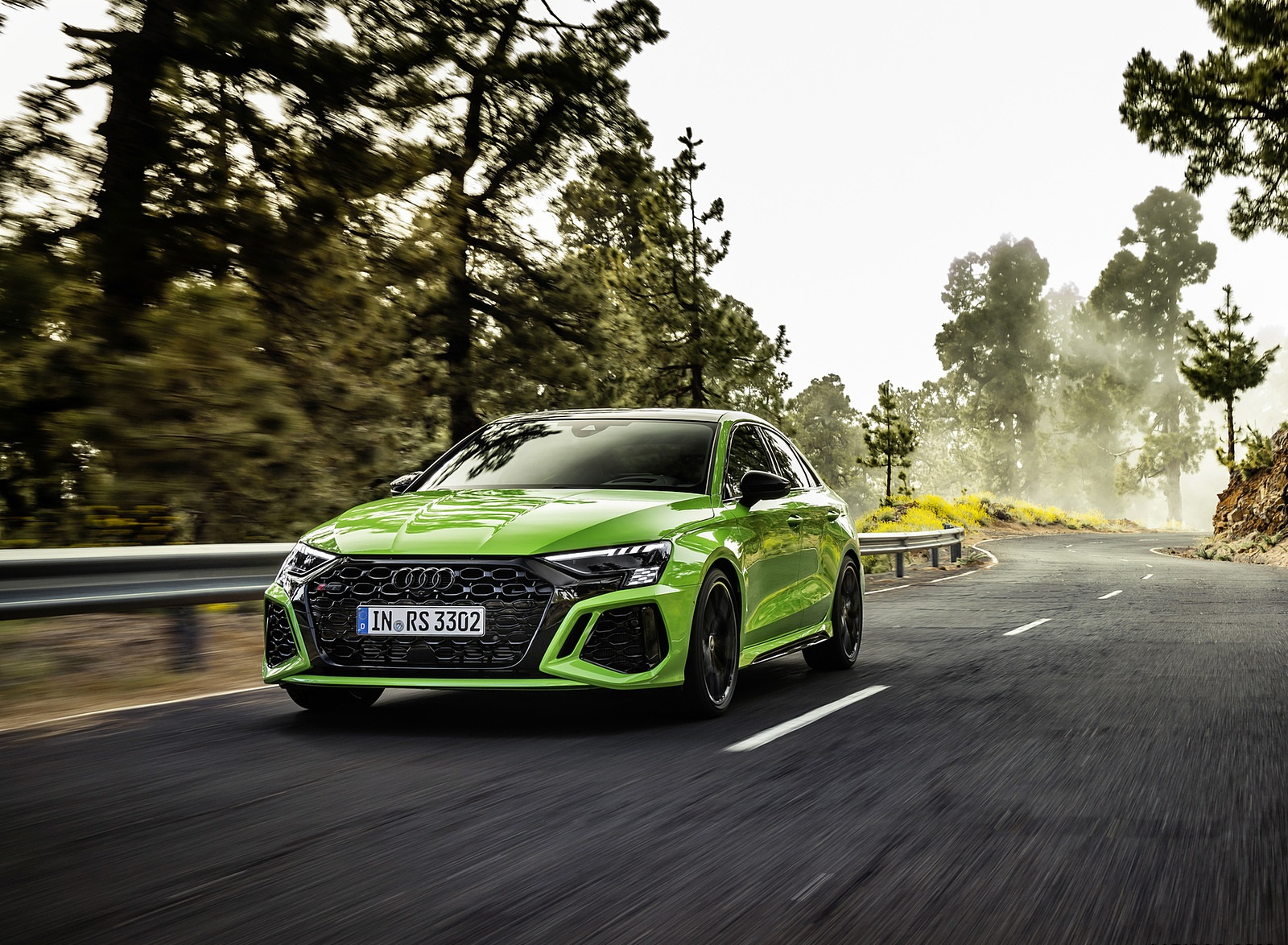 2022 Audi RS3 Sedan (Color: Kyalami Green) Front Three-Quarter Wallpapers (6)