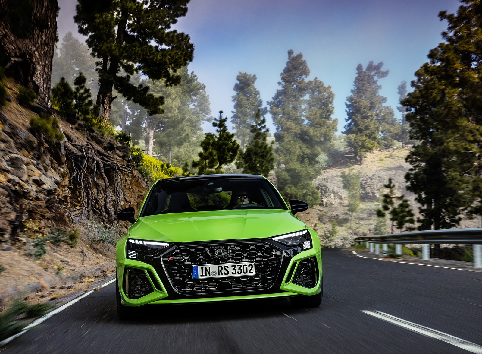 2022 Audi RS3 Sedan (Color: Kyalami Green) Front Wallpapers (9)