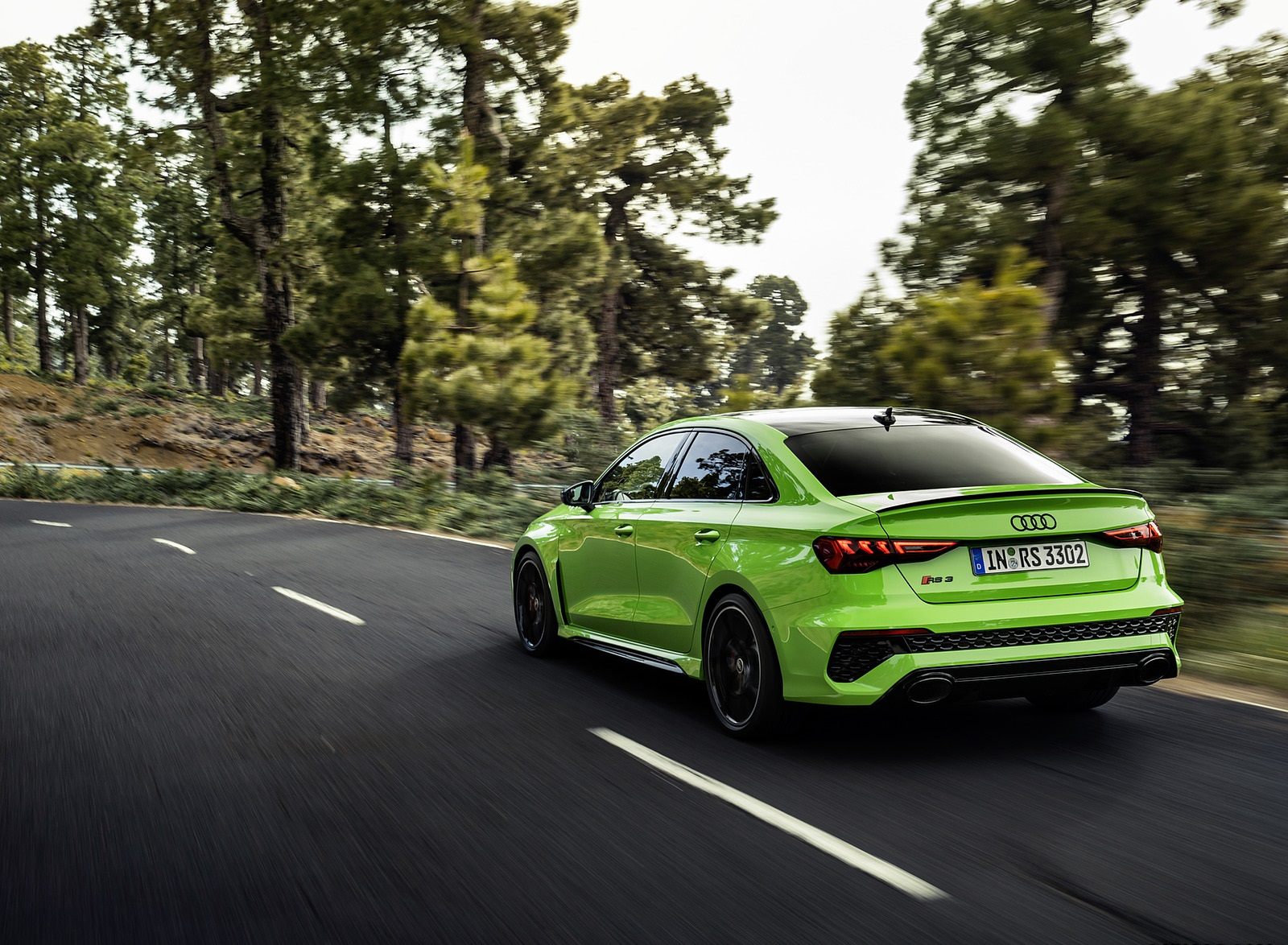 2022 Audi RS3 Sedan (Color: Kyalami Green) Rear Three-Quarter Wallpapers (4)