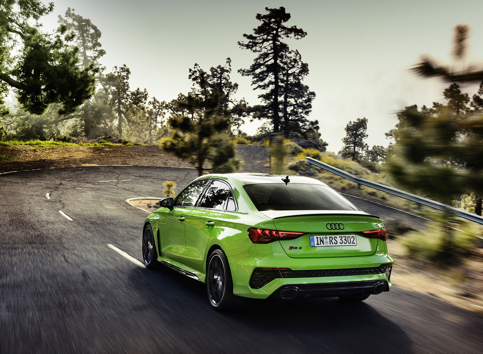 2022 Audi RS3 Sedan (Color: Kyalami Green) Rear Three-Quarter Wallpapers (2)