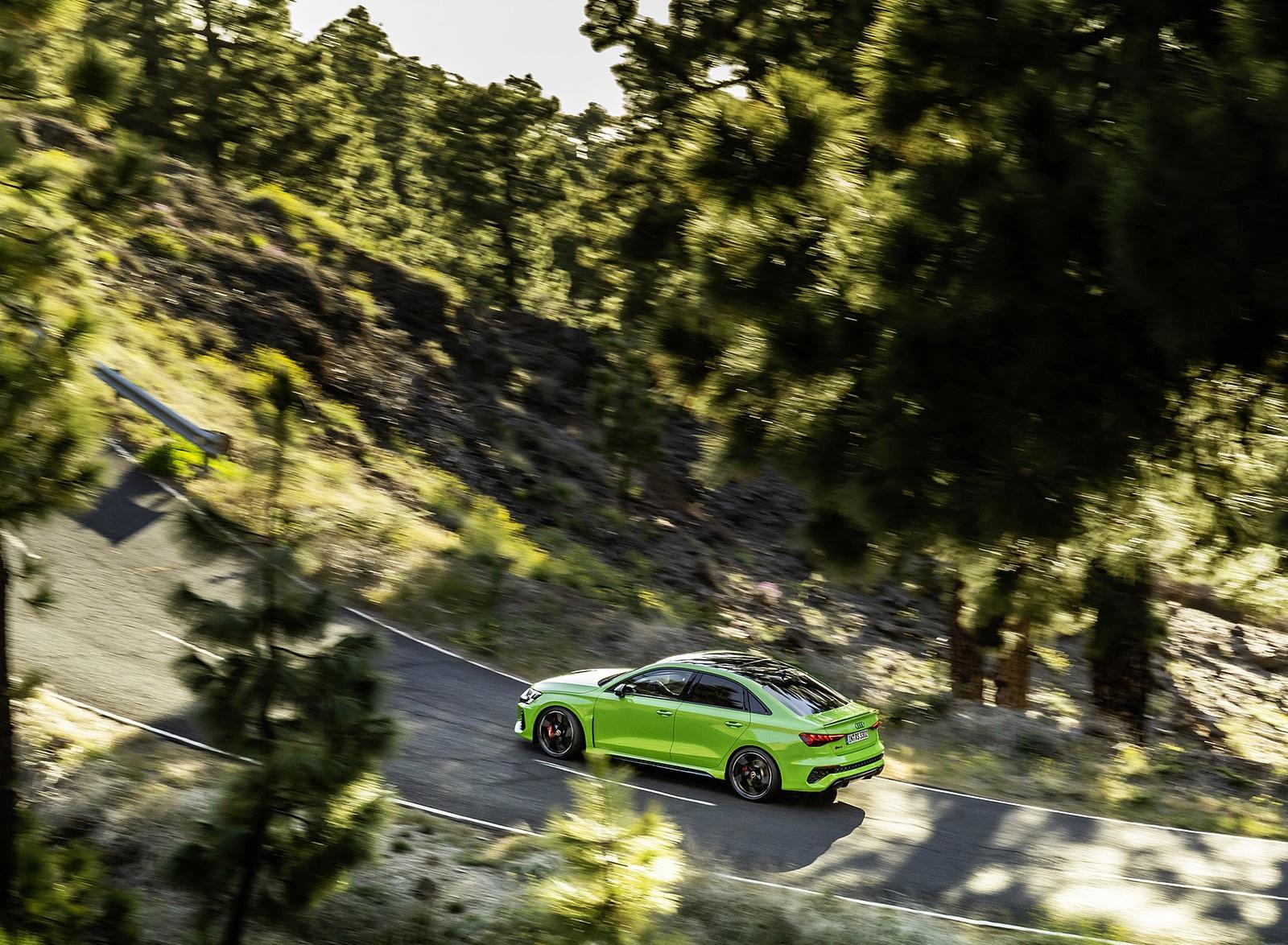 2022 Audi RS3 Sedan (Color: Kyalami Green) Rear Three-Quarter Wallpapers (7)