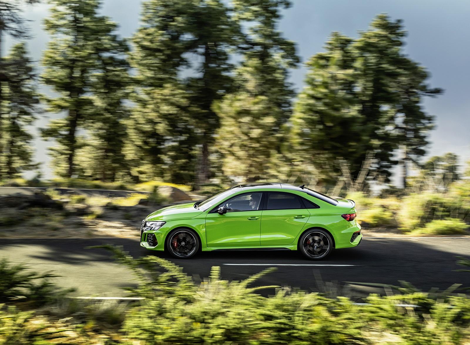 2022 Audi RS3 Sedan (Color: Kyalami Green) Side Wallpapers (5)