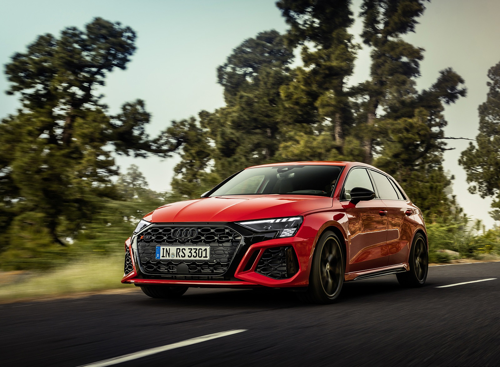 2022 Audi RS3 Sportback (Color: Tango Red) Front Three-Quarter Wallpapers (3)
