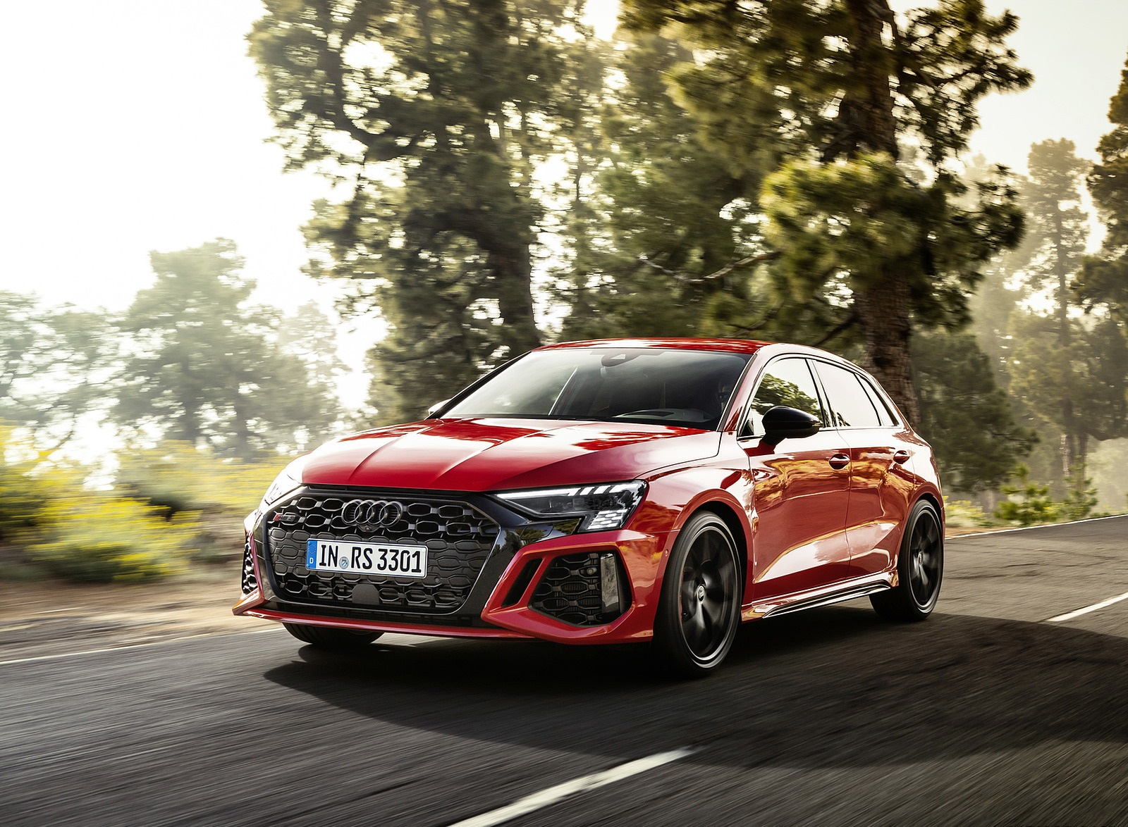 2022 Audi RS3 Sportback (Color: Tango Red) Front Three-Quarter Wallpapers (4)