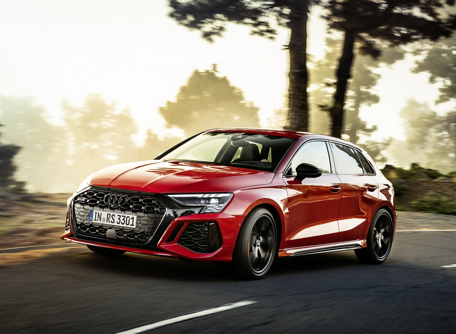 2022 Audi RS3 Sportback (Color: Tango Red) Front Three-Quarter Wallpapers (1)