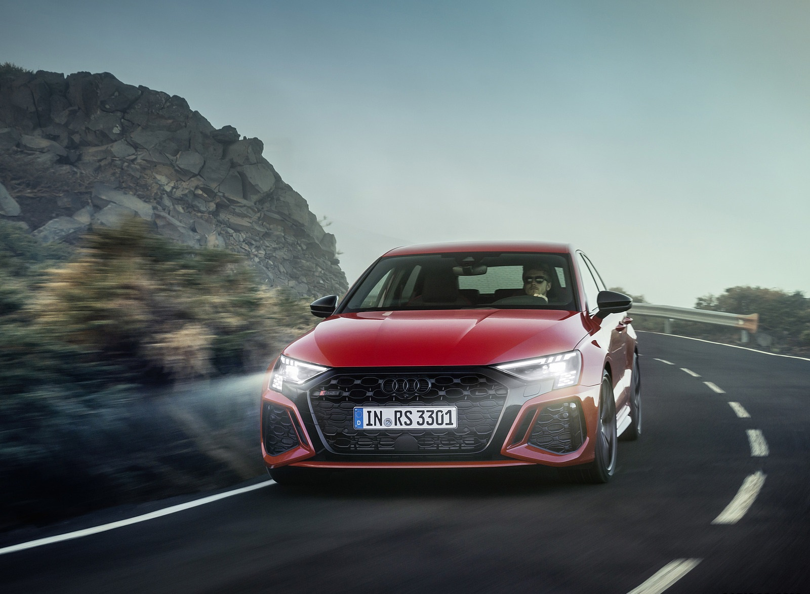2022 Audi RS3 Sportback (Color: Tango Red) Front Wallpapers (8)