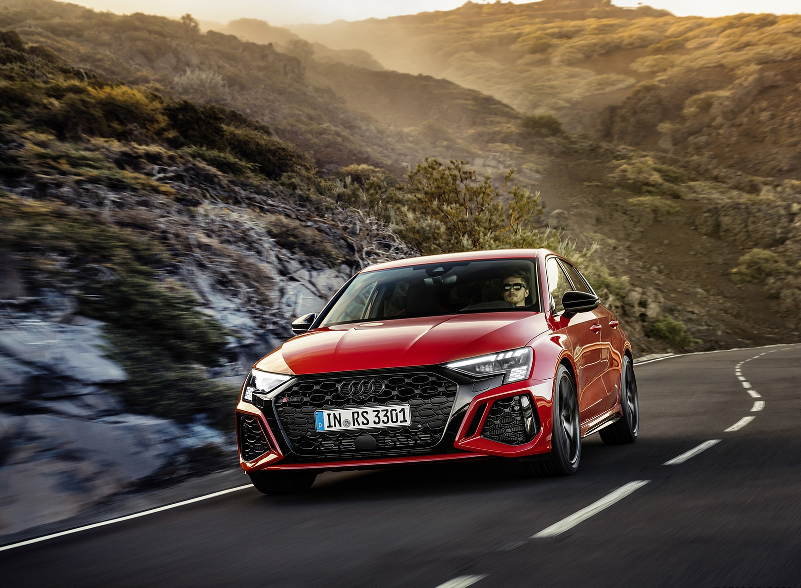 2022 Audi RS3 Sportback (Color: Tango Red) Front Wallpapers (9)