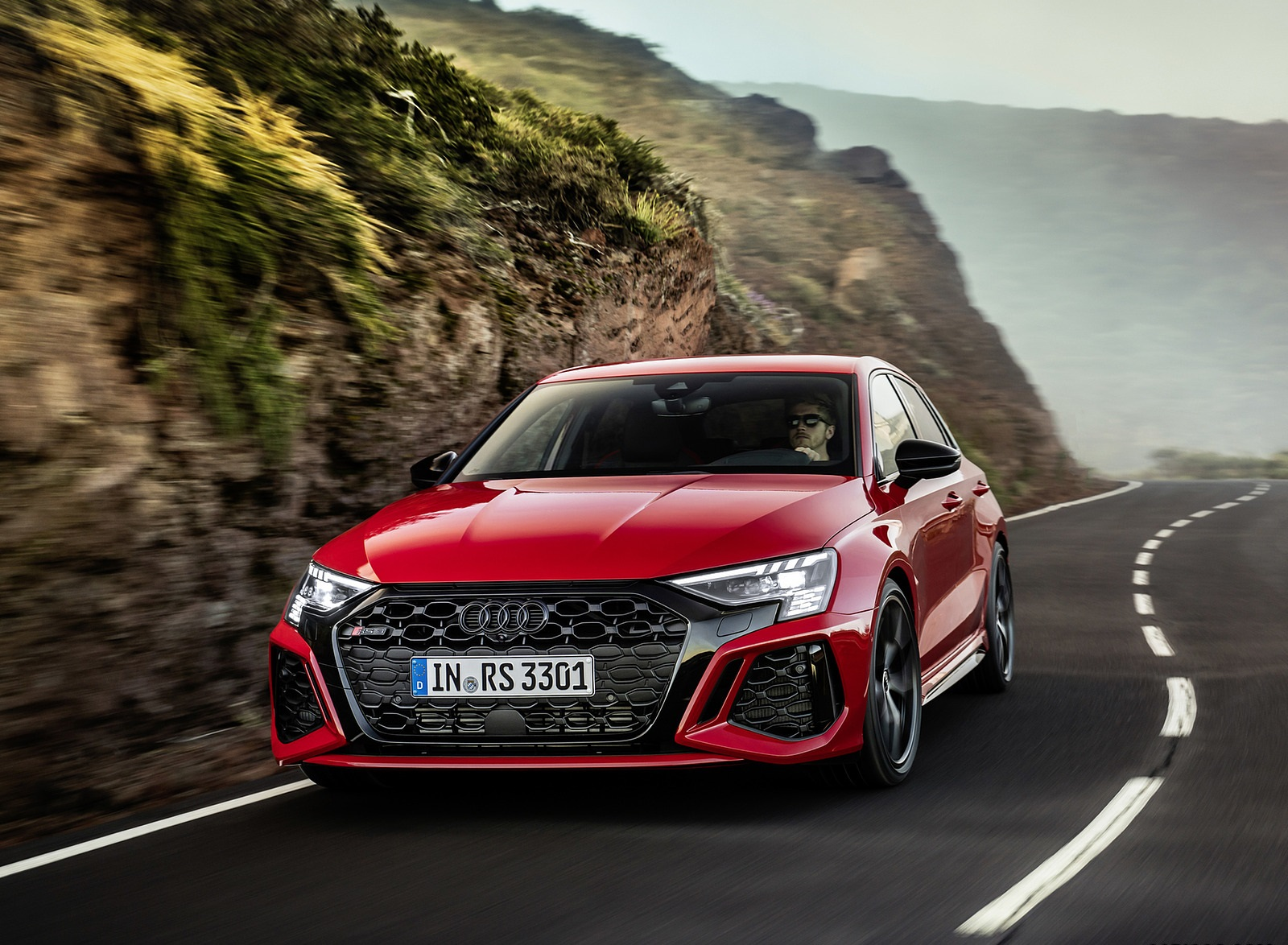 2022 Audi RS3 Sportback (Color: Tango Red) Front Wallpapers (10)