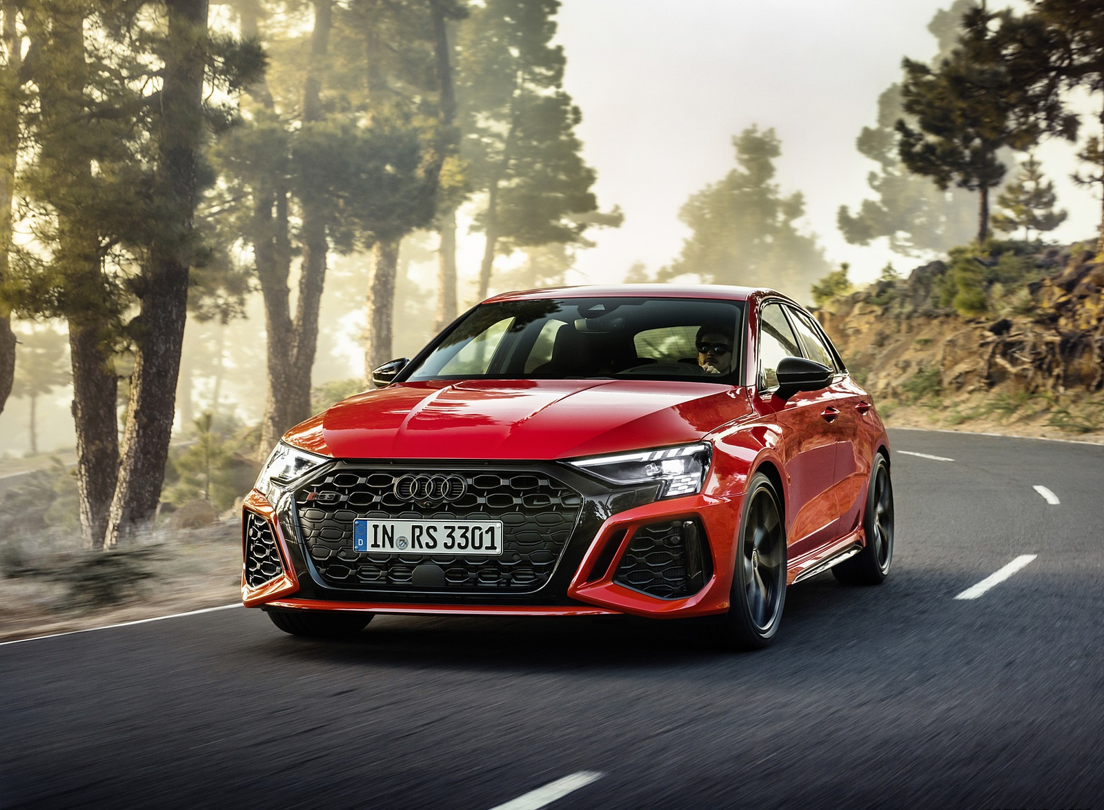 2022 Audi RS3 Sportback (Color: Tango Red) Front Wallpapers (5)