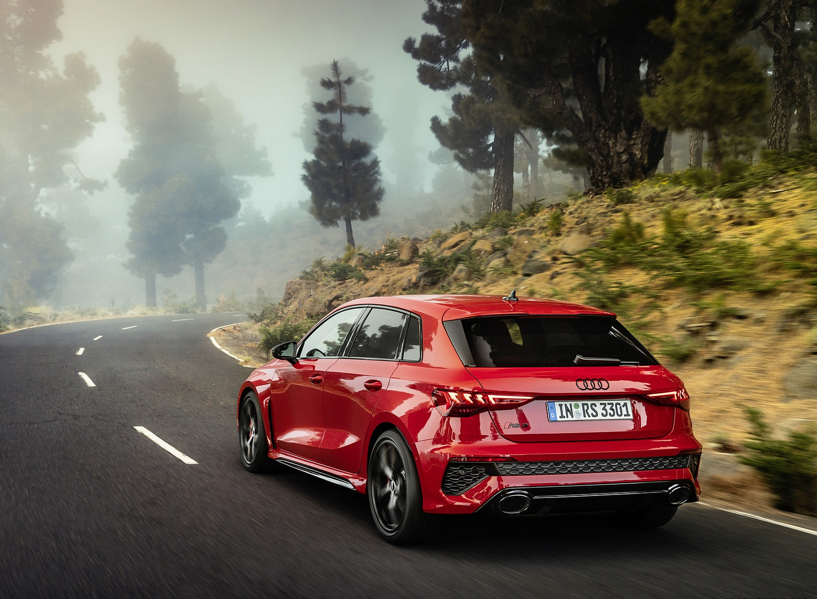 2022 Audi RS3 Sportback (Color: Tango Red) Rear Three-Quarter Wallpapers (6)