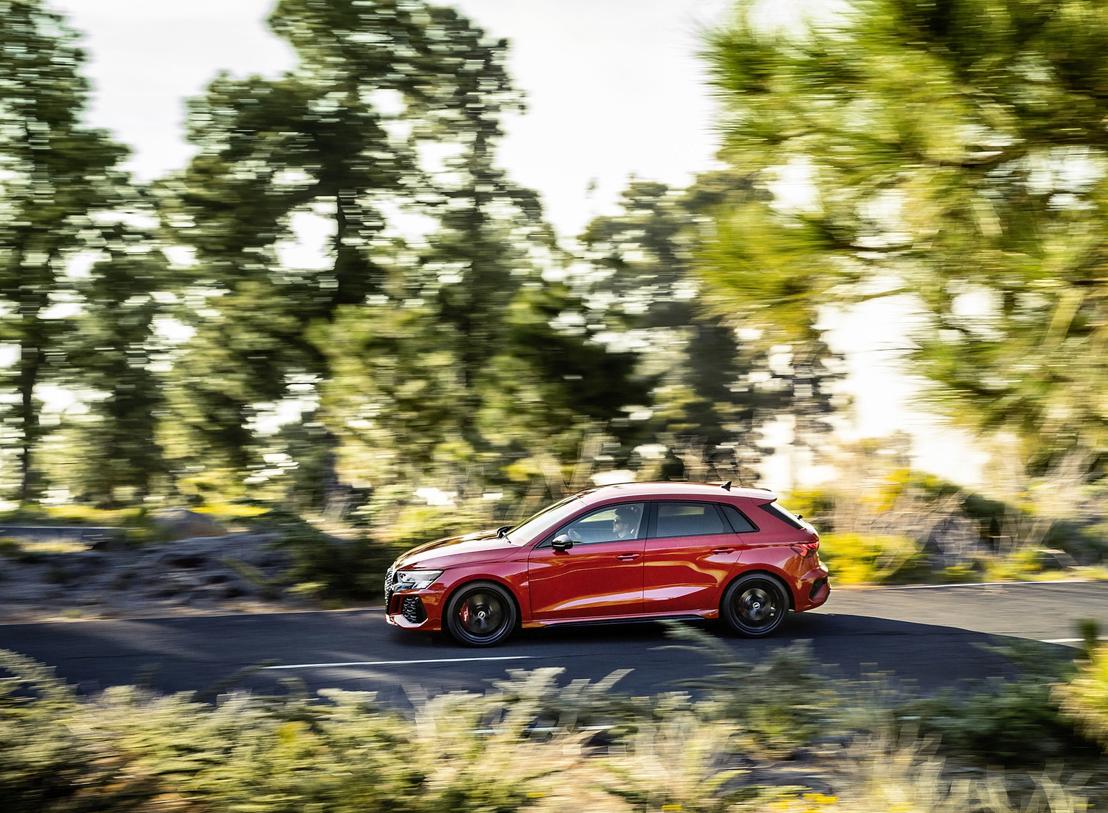 2022 Audi RS3 Sportback (Color: Tango Red) Side Wallpapers (7)