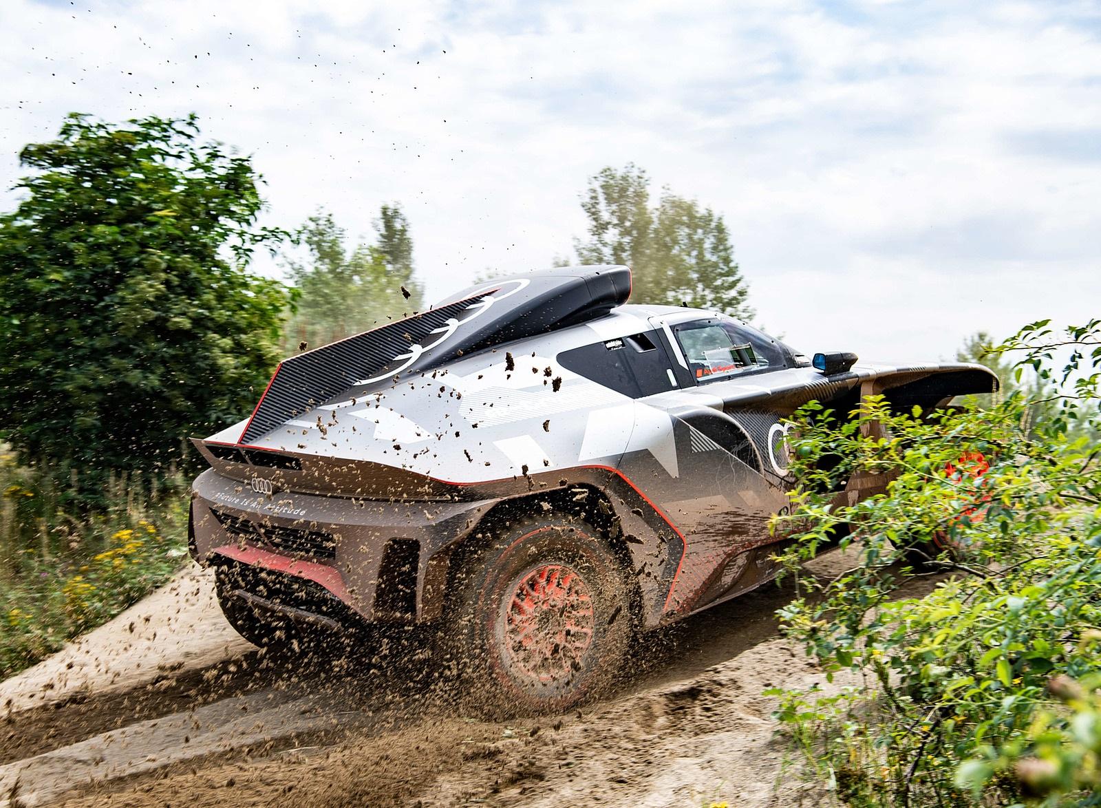2022 Audi RS Q e-tron Dakar Rally Testing Wallpapers (10)