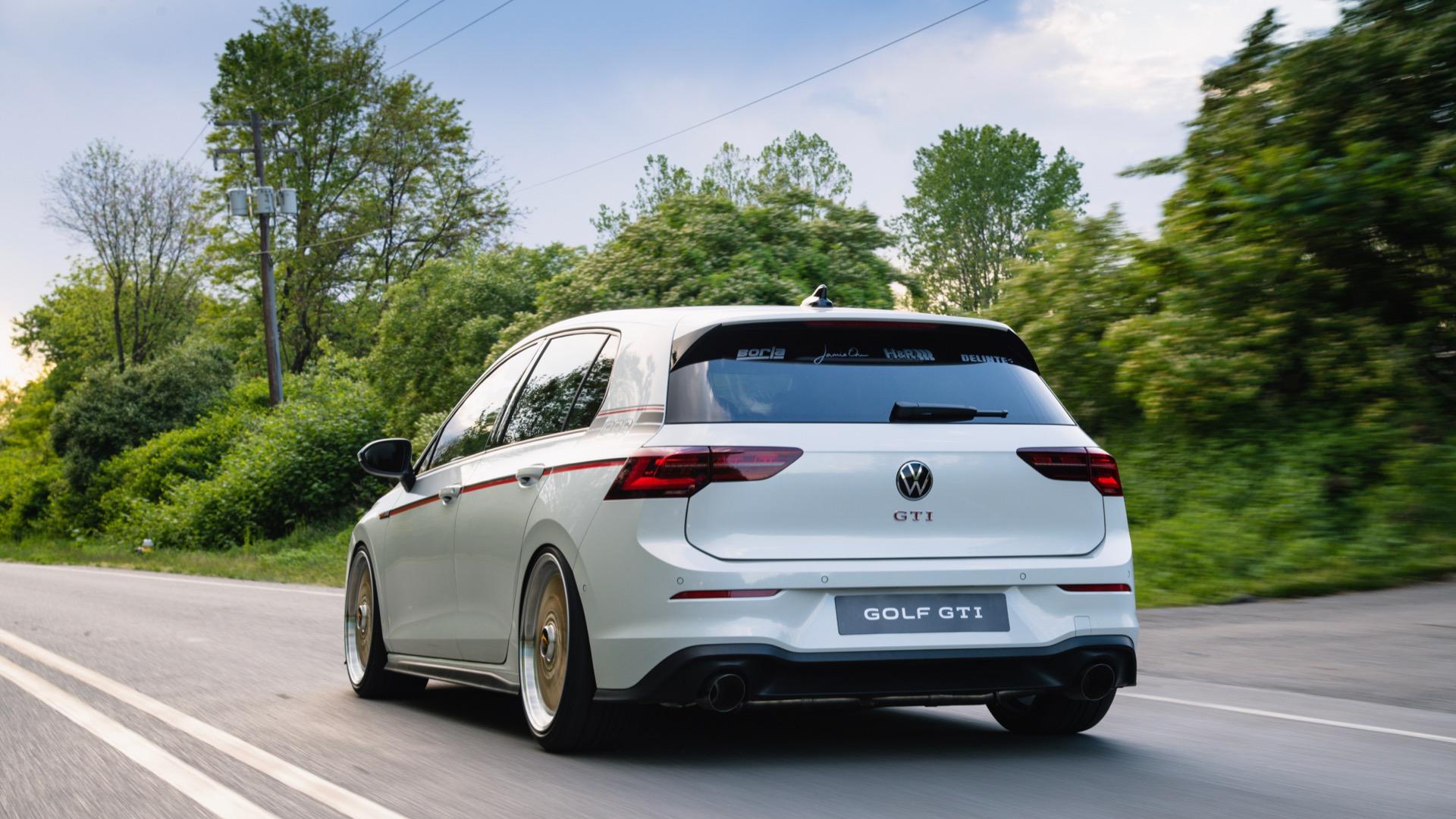 2021 Volkswagen GTI BBS concept Rear Three-Quarter Wallpapers (3)